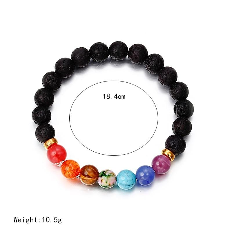 7 Chakra Bracelet Men Lava Healing Balance Beads Natural Stone Yoga Bracelet for Women
