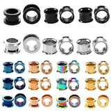 316l Surgical Steel Ear Flesh Tunnel Plugs Hollow Screw Ear Expander Gauge Body Jewelry