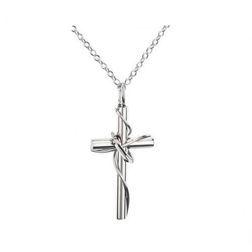 Stainless Steel Couple Necklace Chains Pendants Chaste Cross Silver