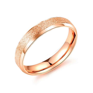 Stainless Steel Wedding Ring for Couple Matte Finished Ring Black Rose Gold