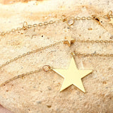 Gold Plated Minimalist Necklace Star Charms Pendant Multi-layers Necklace Set Bohemian Jewelry