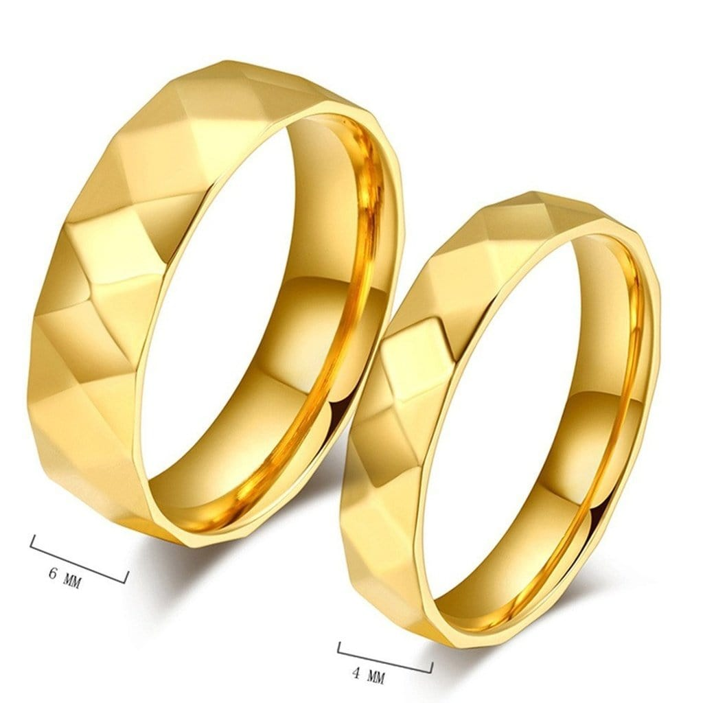 Rings for Women Men Eternity Band Wedding Bands Stainless Steel Gold