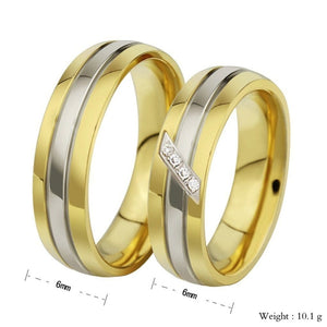Rings for Men Jewelry Wedding Ring Stainless Steel Oblique Line Gold Size 5-13