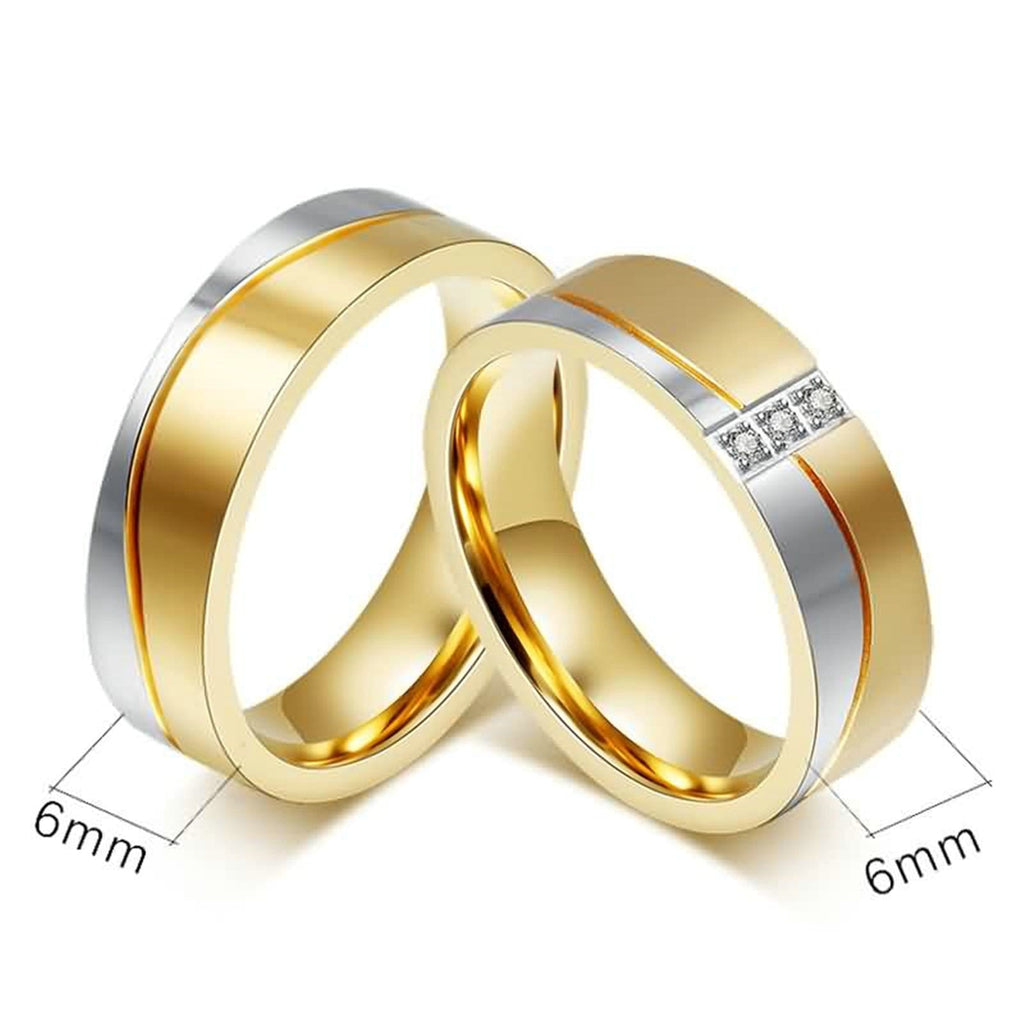 Wedding Rings Infinity Promise Rings Stainless Steel High Polished Gold Silver