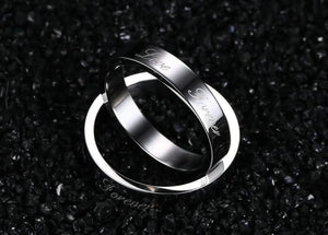 Wedding Rings Party Favors Engagement Bands Stainless Steel Love Forever Silver