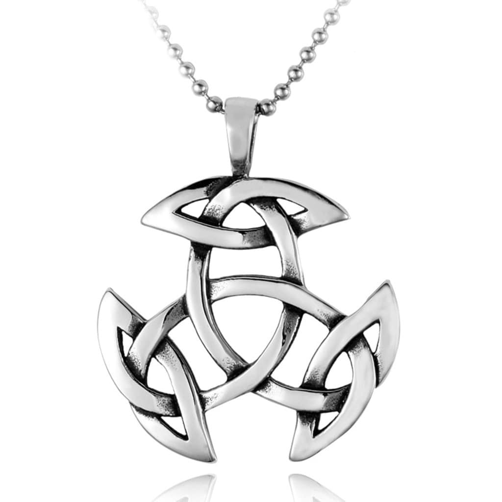 Men Necklace Playboy Stainless Steel Celtic Knot Amulet Pendant Necklace