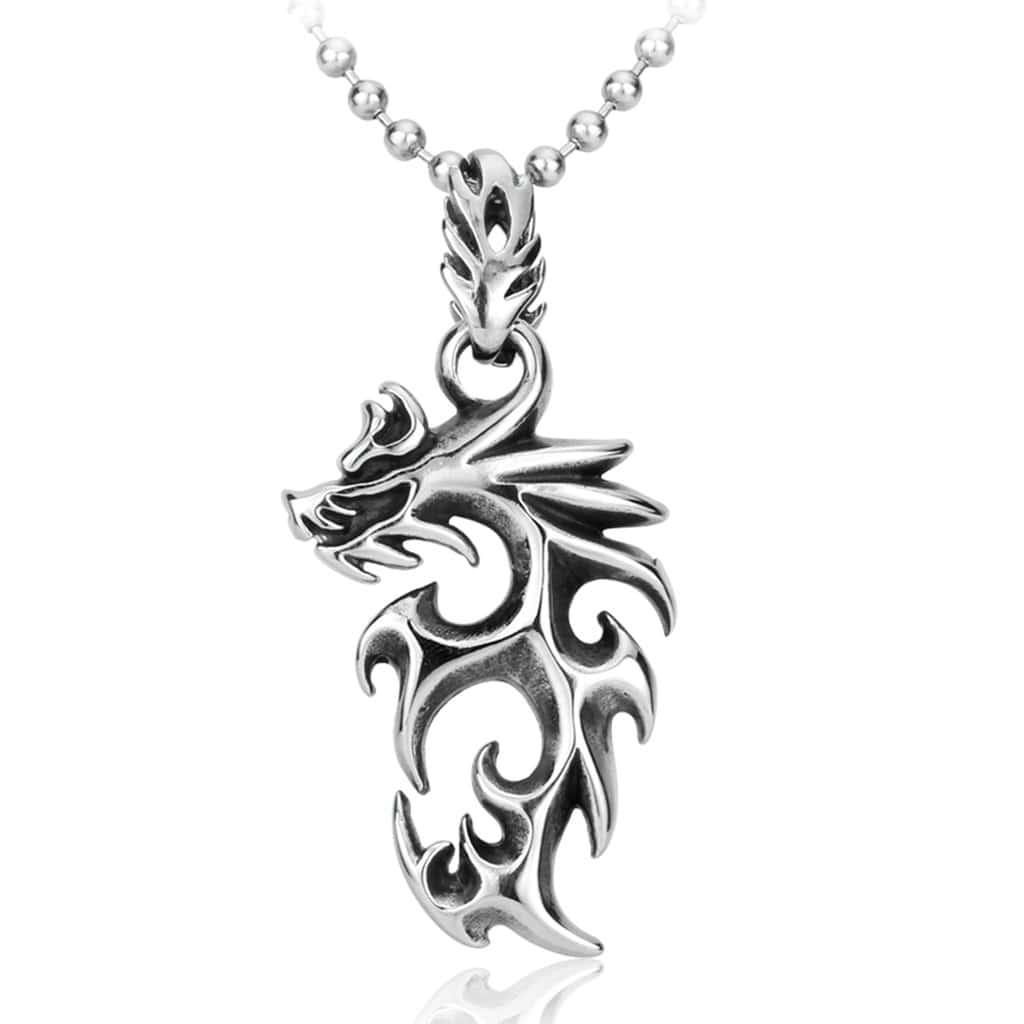 Men Necklace Cross Dragon 316L Stainless Steel Cross Dragon Pendant Necklace Best