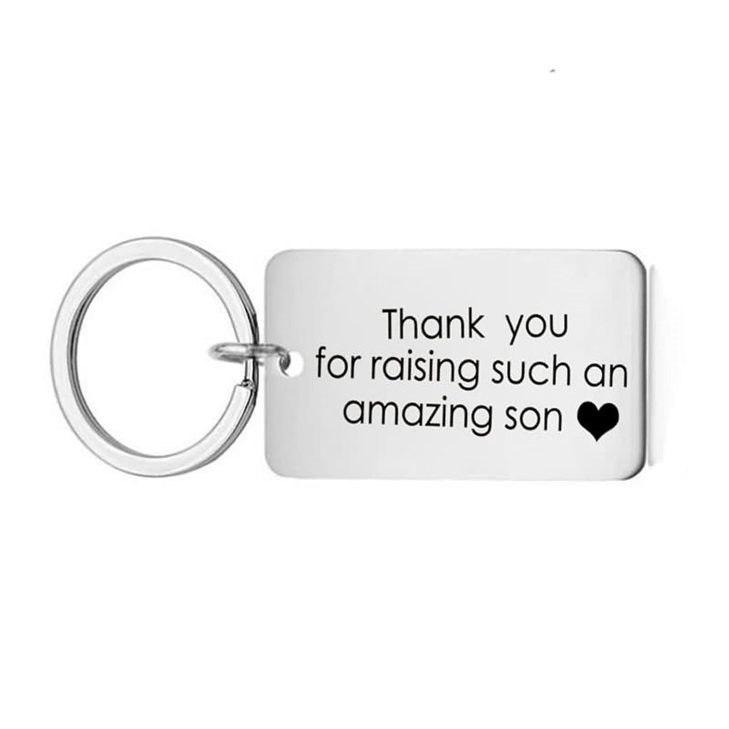 Keychains Personalized Stainless Steel Accessory Thank You for Raising Sush An Amazing Son Dog Tag Silver