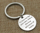 Keychains Women Stainless Steel Jewelry To Love Me Like Your Own Silver