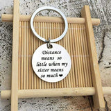 Keychain Bag Stainless Steel Jewelry Distance Means So Little Silver
