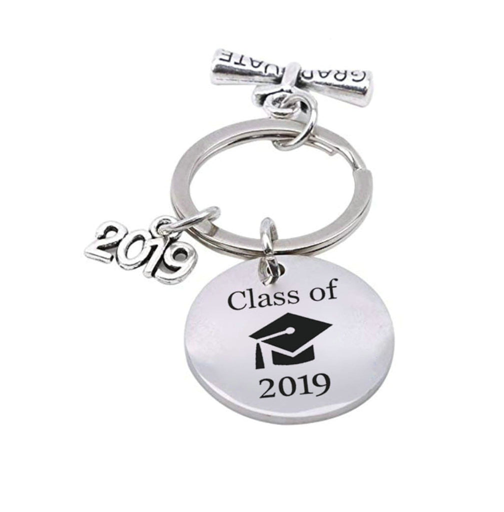 Keyrings for Keychains Stainless Steel Keychain for Unisex Round Tag My Story Is Just Beginning Silver