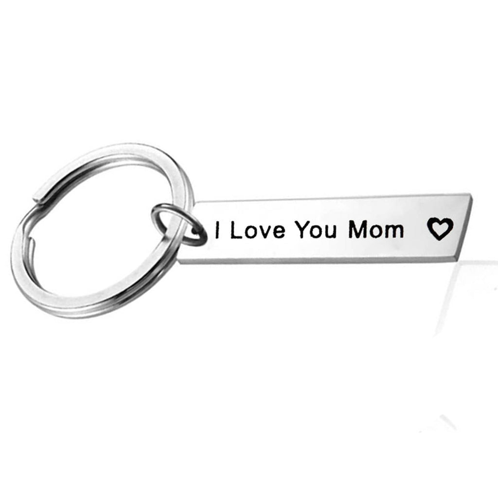Key Rings Gold Stainless Steel Jewelry I Love You Dad Silver