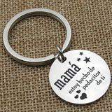Key Rings Personalized Stainless Steel Accessory for Women Spanish Mama Silver