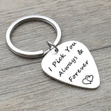 Keychains Cross Stainless Steel Keychain for Unisex Heart I Pick You Always & Forever Silver