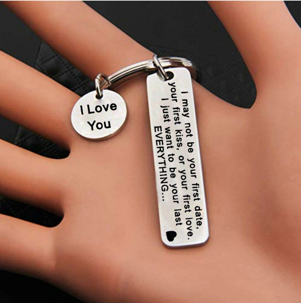 Key Rings Mens Stainless Steel Jewelry I Love You Silver