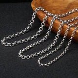 Necklace with Pendant for Women Sterling Silver Round Chain Silver