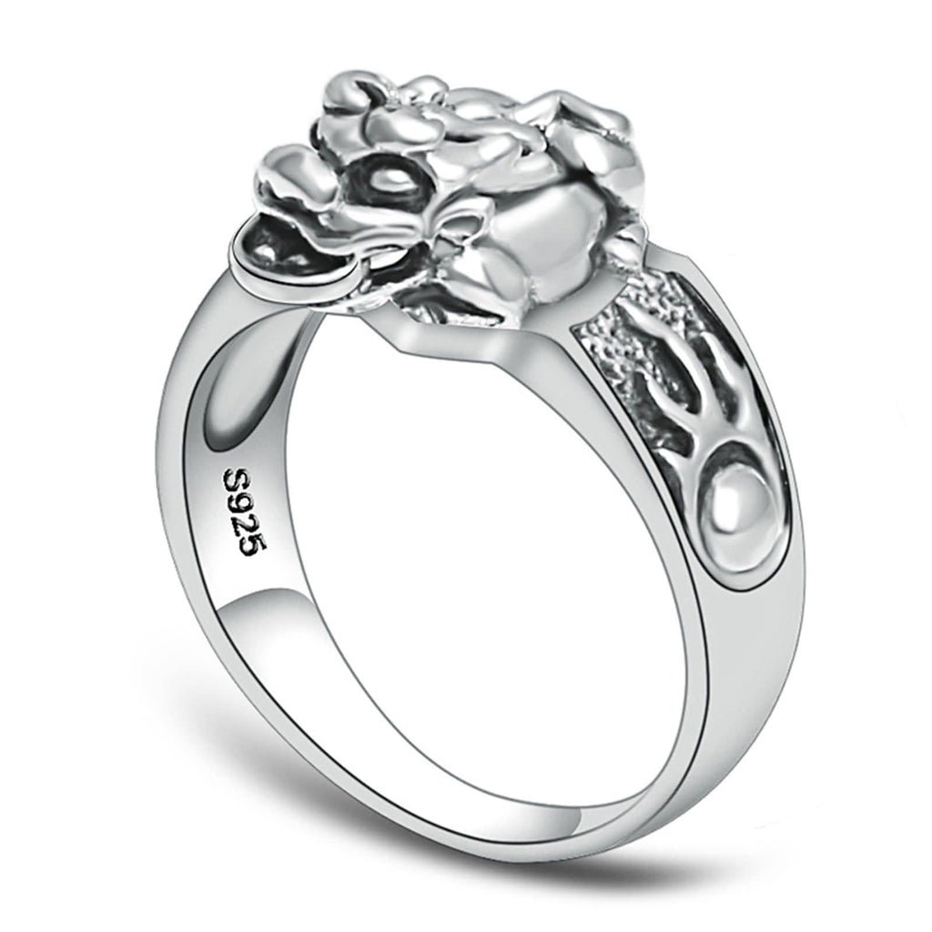 Engagament Ring for Men Women Sterling Silver Circle Vintage