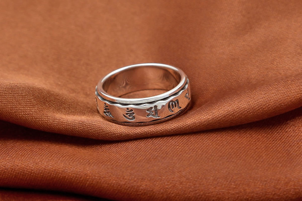 Promise Rings for Men Sterling Silver Six Word Mantra Memoirs