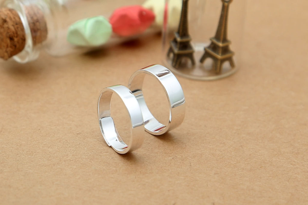Men Women Anniversary Ring Sterling Silver Round Silver for Gift