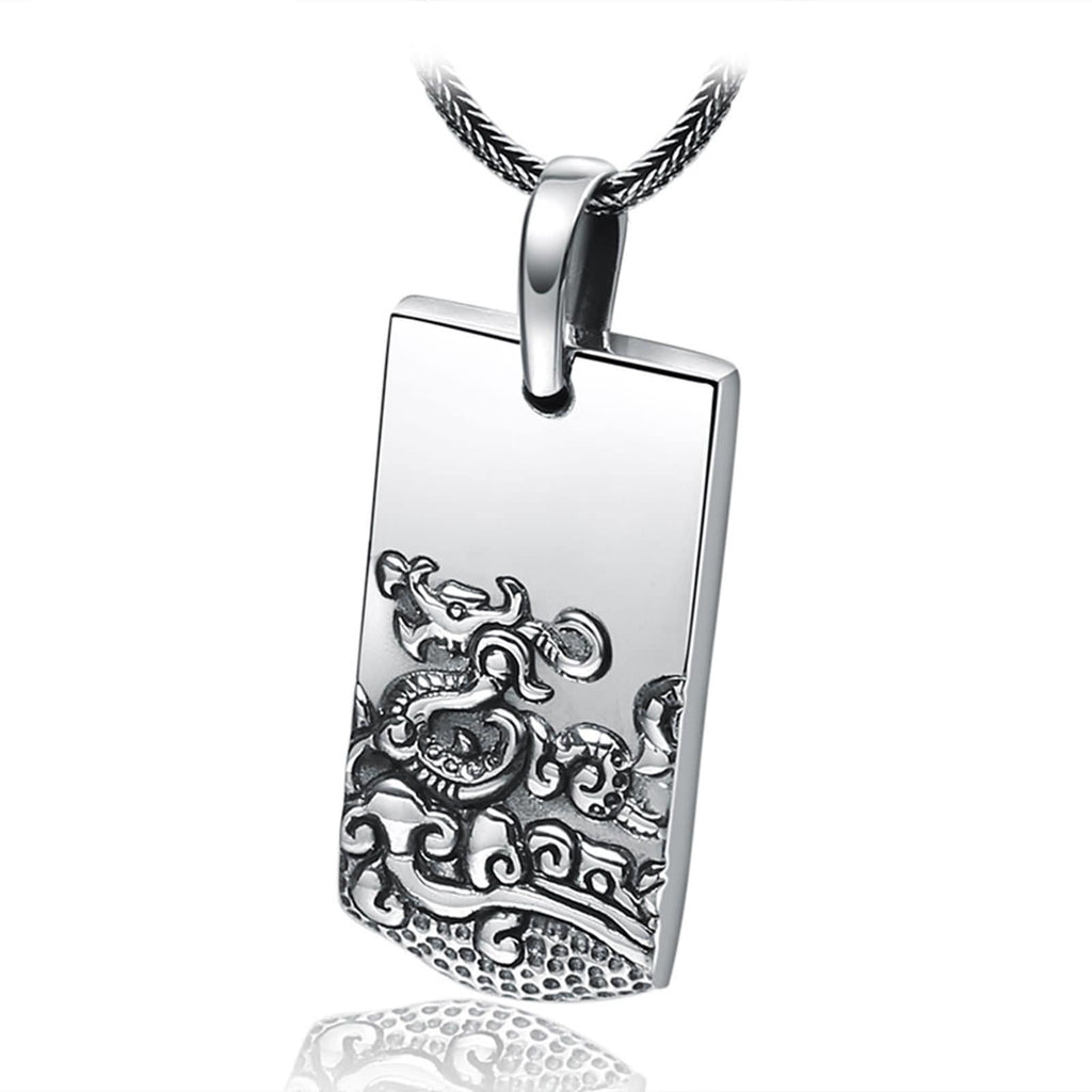 Necklace Pendant for Women Sterling Silver Zodiac Silver 5.3x2.1cm
