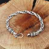 Bangle Bracelet for Men Sterling Silver Curb Chain Silver 20x0.6cm