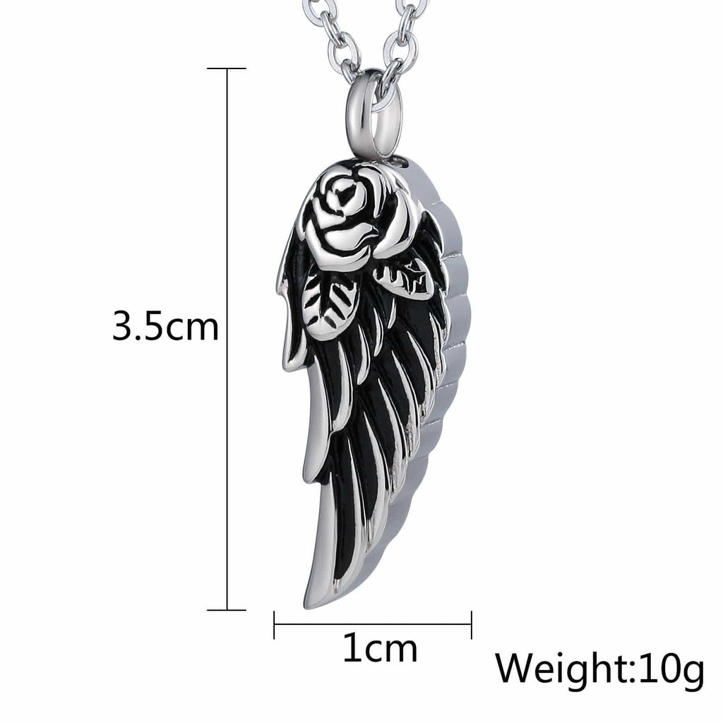 Cremation Ashes Necklace Pendant Stainless Steel Engravable 1 x 3.5cm