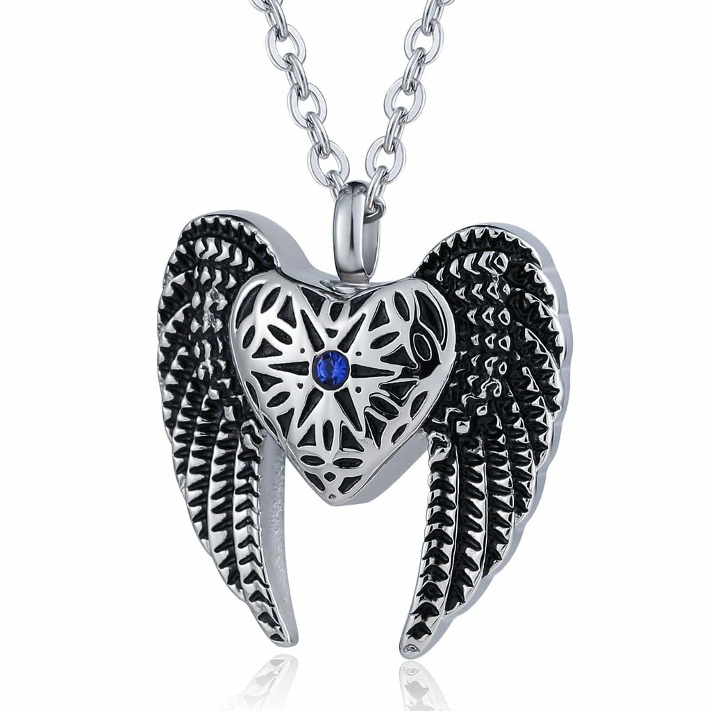 Cremation Ashes Necklace Pendant Stainless Steel Engravable 2.8 x 3cm
