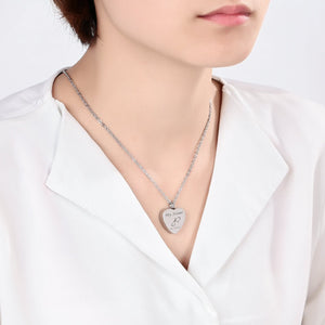 Cremation Jewelry Urn Necklace for Girls Stainless Steel Heart