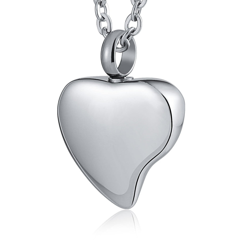 Ashes Necklace Keepsake Pendant Stainless Steel Heart Engraving 2 x 2.5cm