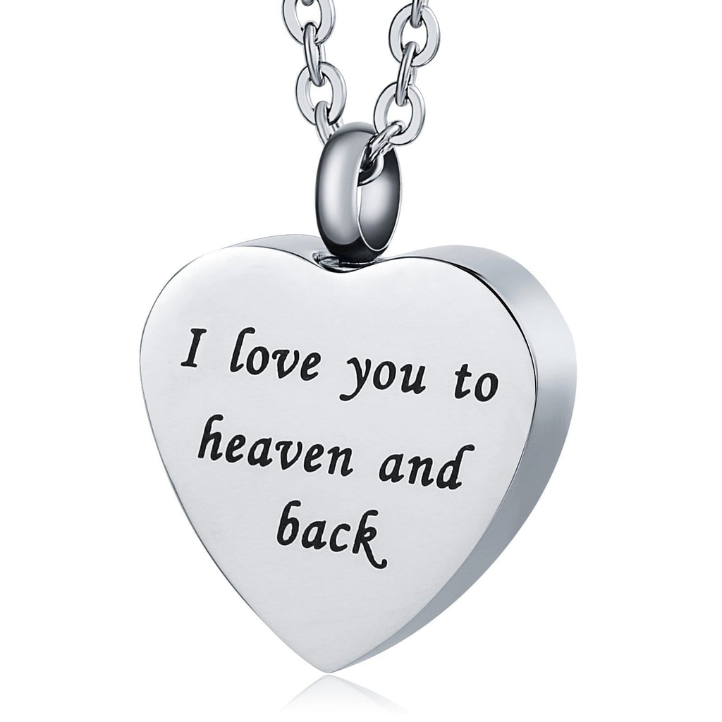 Urn Necklace Cremation Necklace Stainless Steel Heart 2 x 2.5cm