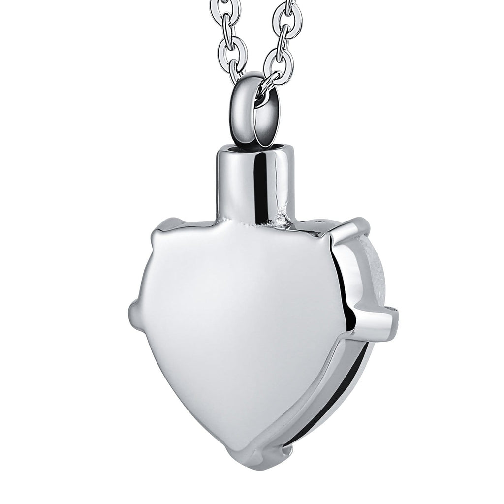 Urn Necklace Cremation Necklace Stainless Steel Heart Engravable 2.2 x 3cm