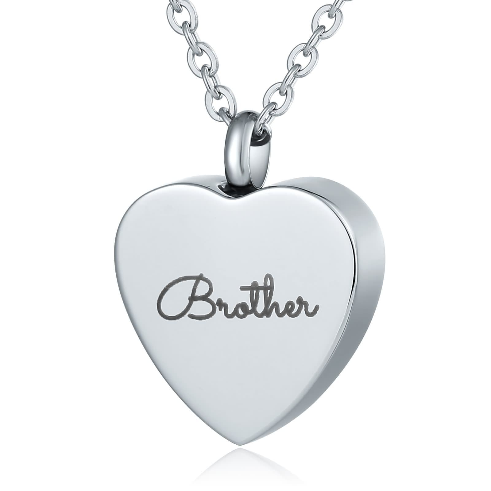 Ashes Necklace Keepsake Pendant Stainless Steel Jewlery Heart Engravable 2 x 2.5cm