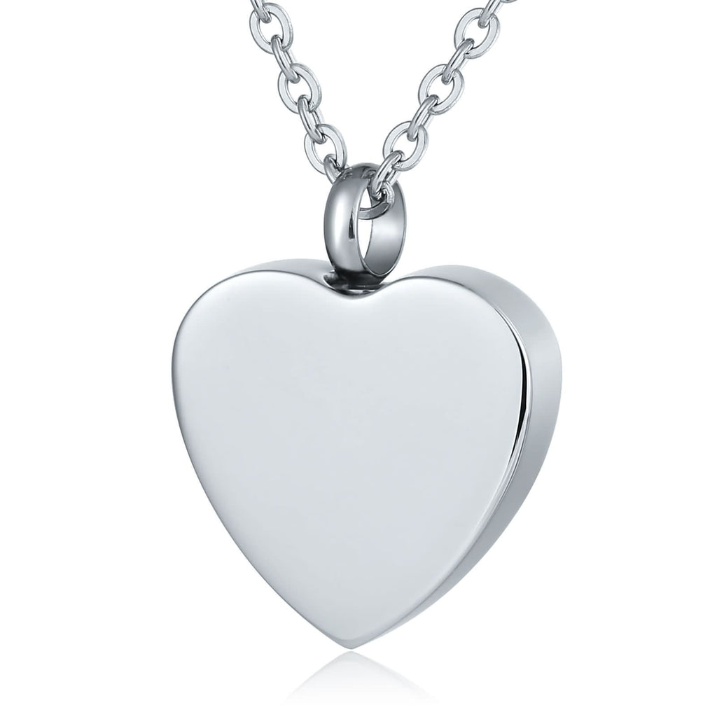 Urn Pendant Ashes Necklace Stainless Steel Keepsake Jewelry Heart 2 x 2.5cm
