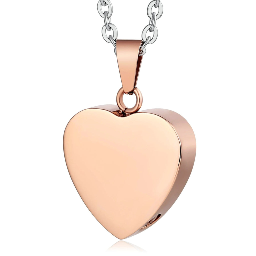 Urn Necklace Cremation Necklace Stainless Steel Heart Engravable 2 x 2.3cm
