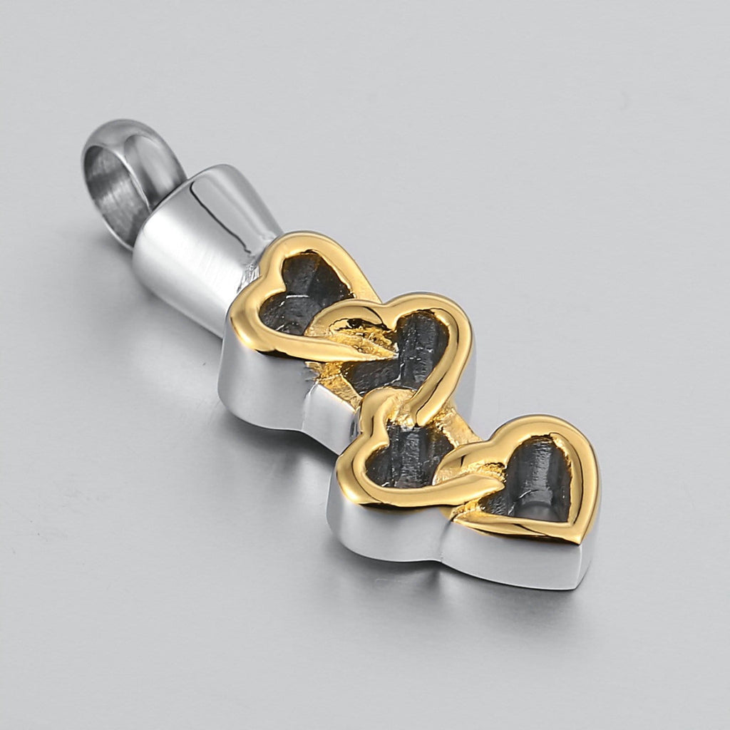 Urn Necklace Cremation Necklace Stainless Steel Gold 1 x 3.3cm
