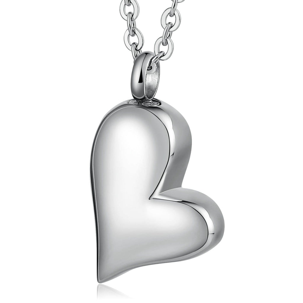 Stainless Steel Necklace Heart Engravable 1.7 x 3cm