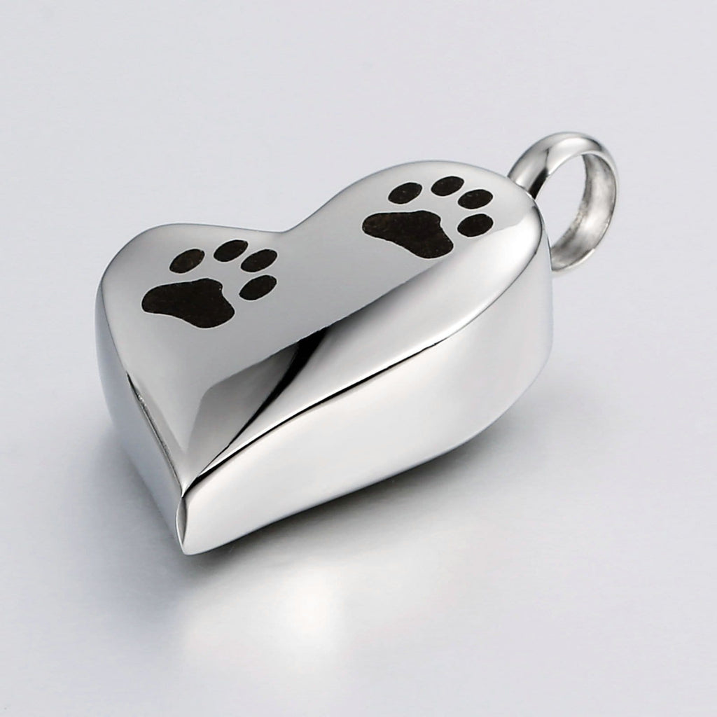 Ashes Necklace Keepsake Pendant Stainless Steel Heart Engravable 1.7 x 3cm