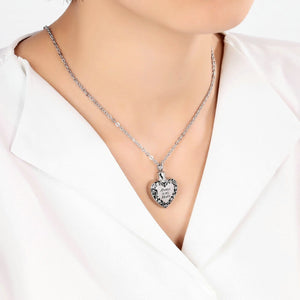 Ashes Urn Necklace Stainless Steel Cremation Jewelry Heart Engravable 2 x 3cm