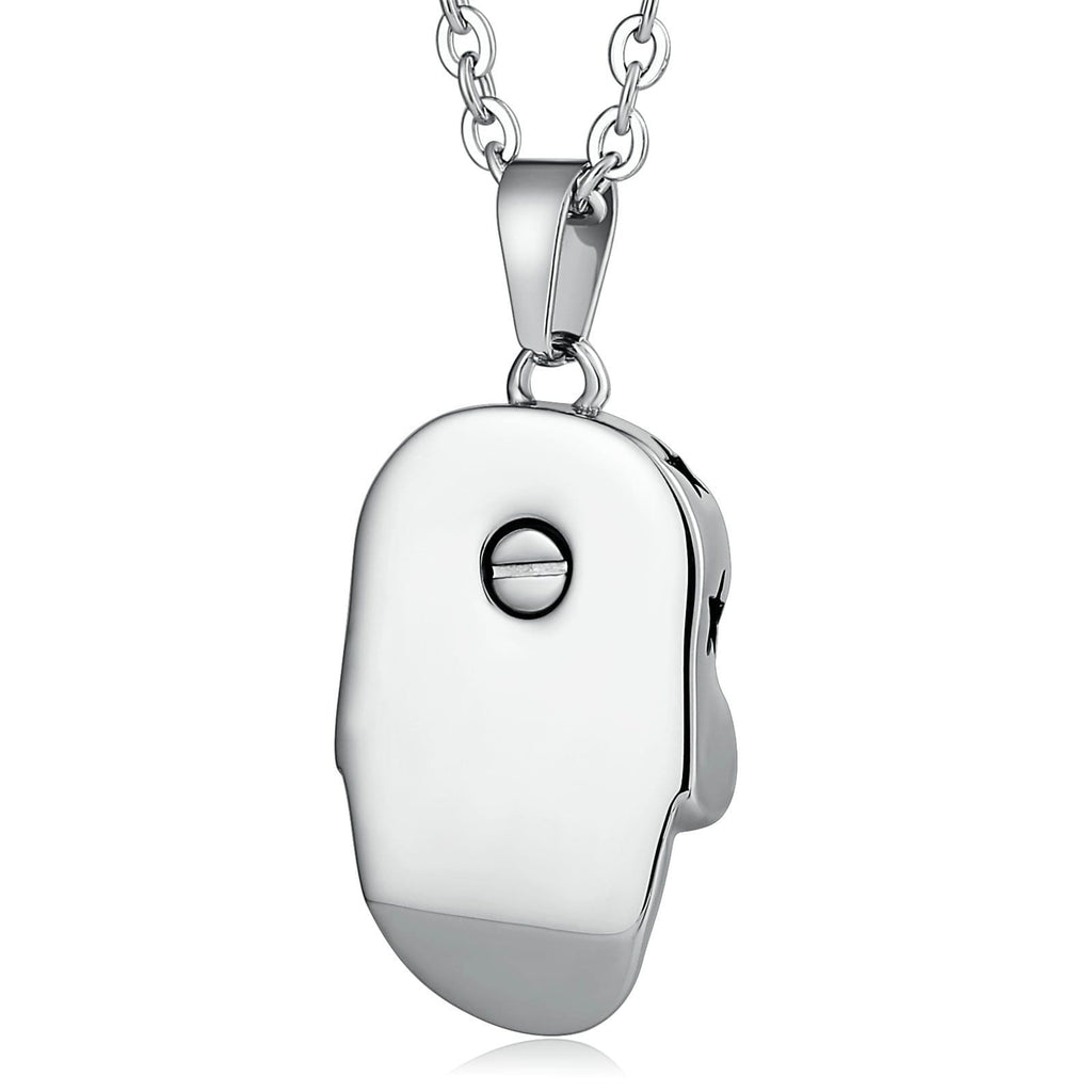 Urn Necklace Cremation Necklace Stainless Steel Engravable 1.5 x 3cm