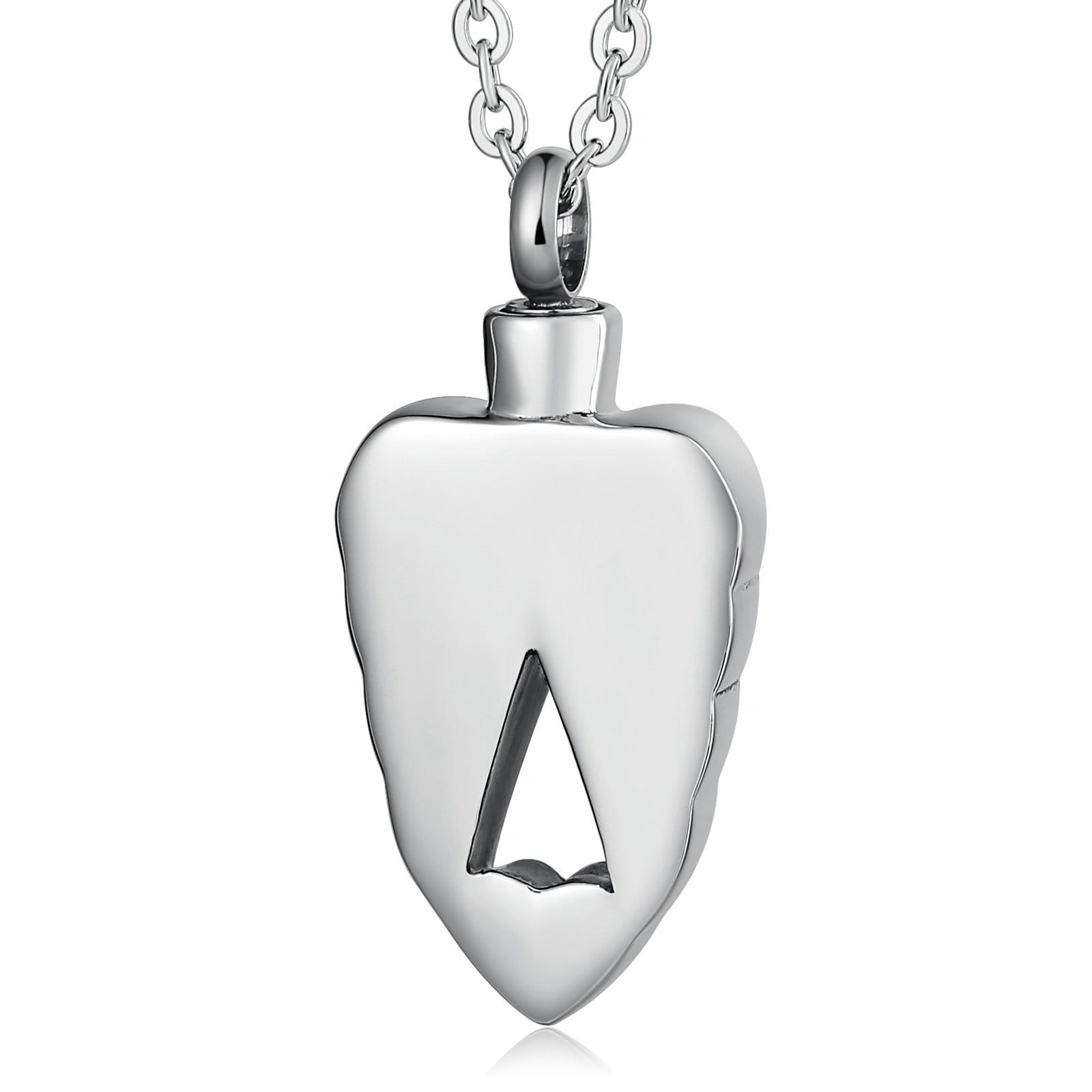 Ashes Necklace Keepsake Pendant Stainless Steel Heart Engravable 2 x 3.5cm