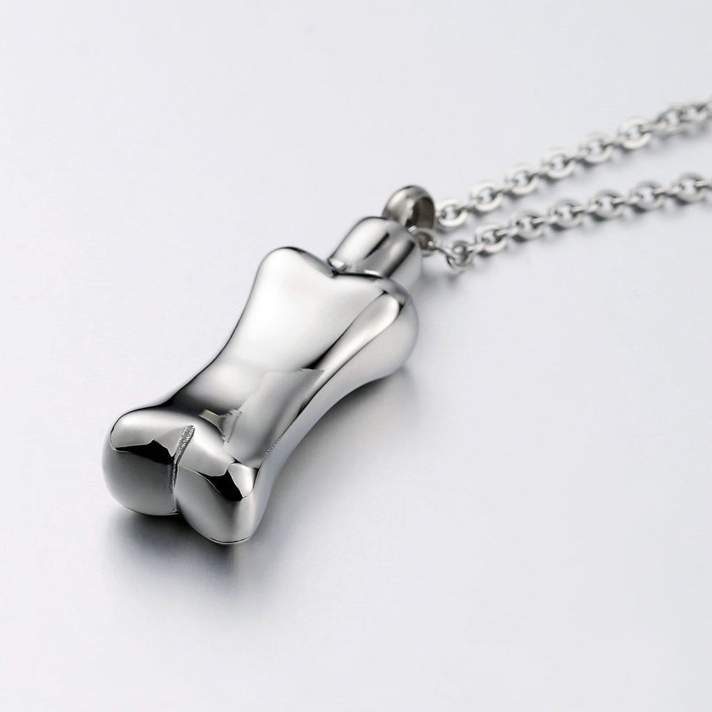 Cremation Ashes Necklace Pendant Stainless Steel Silver 1 x 4cm