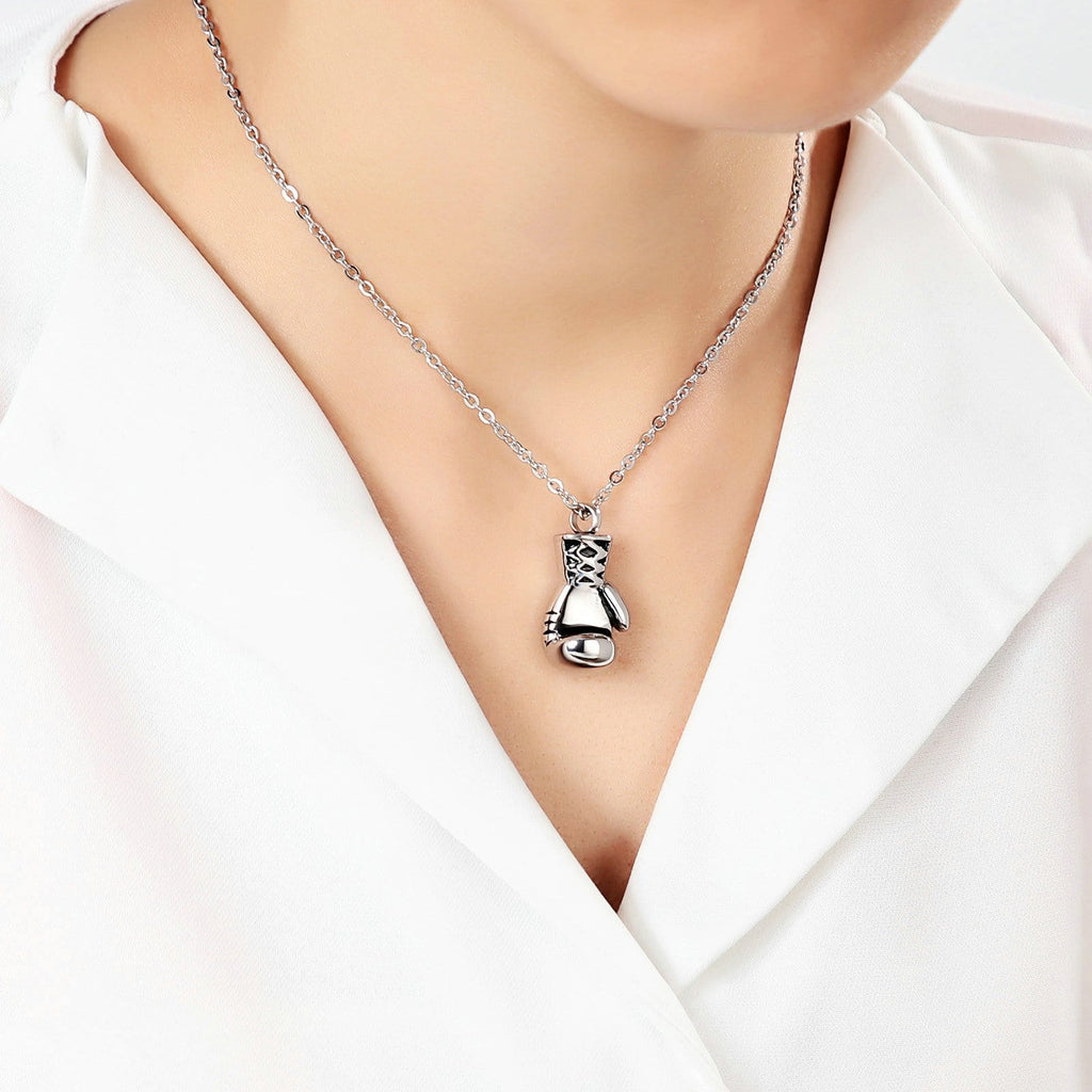 Urn Necklace Cremation Necklace Stainless Steel Silver 1.5 x 3cm