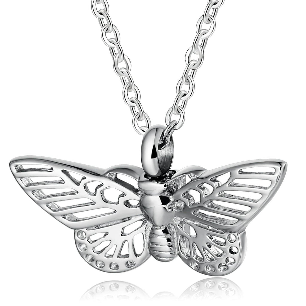 Urn Necklace Cremation Necklace Stainless Steel Silver 3.5 x 2cm