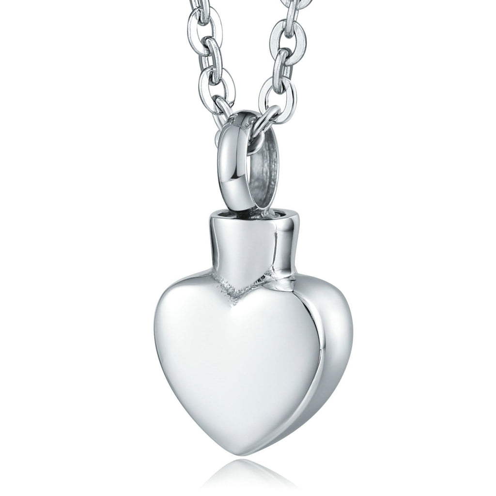 Urn Necklace Cremation Necklace Stainless Steel Silver Heart 1 x 2cm