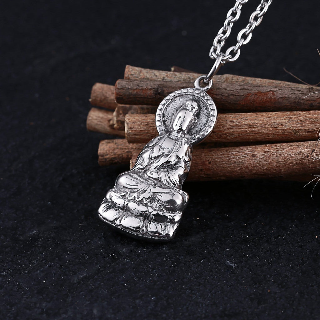 Chain Necklace for Men Stainless Steel Big Big Goddess Religious