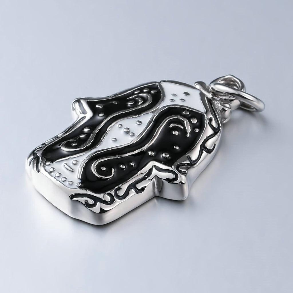 Women Necklace Stainless Steel Black Special Mask Shaped