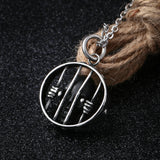 Women Necklace Stainless Steel Silver Fence Trapped Skull