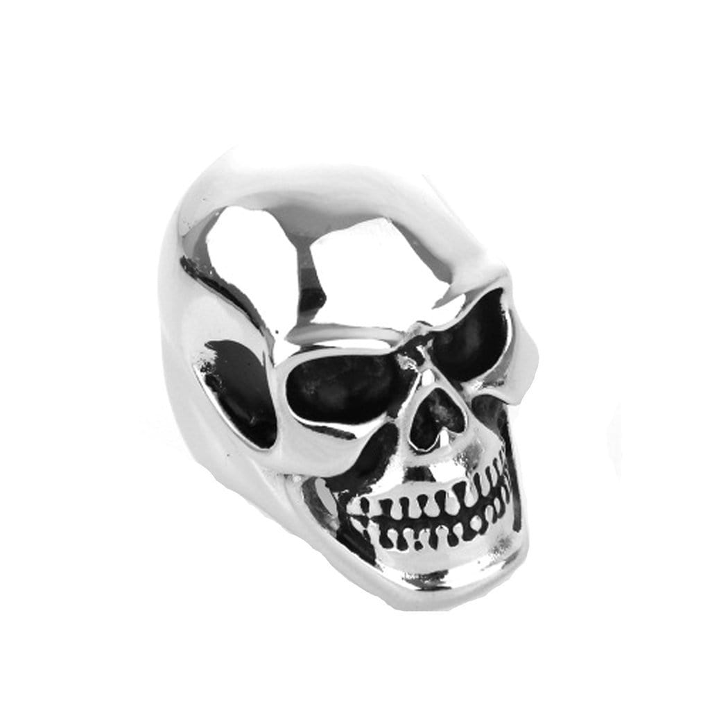 Stainless Steel Mens Ring Retro Punk Skull Black Free Engraving