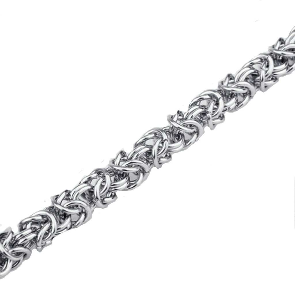Stainless Steel Bracelet for Men Dad Chinese Knot Silver Charm Bracelets