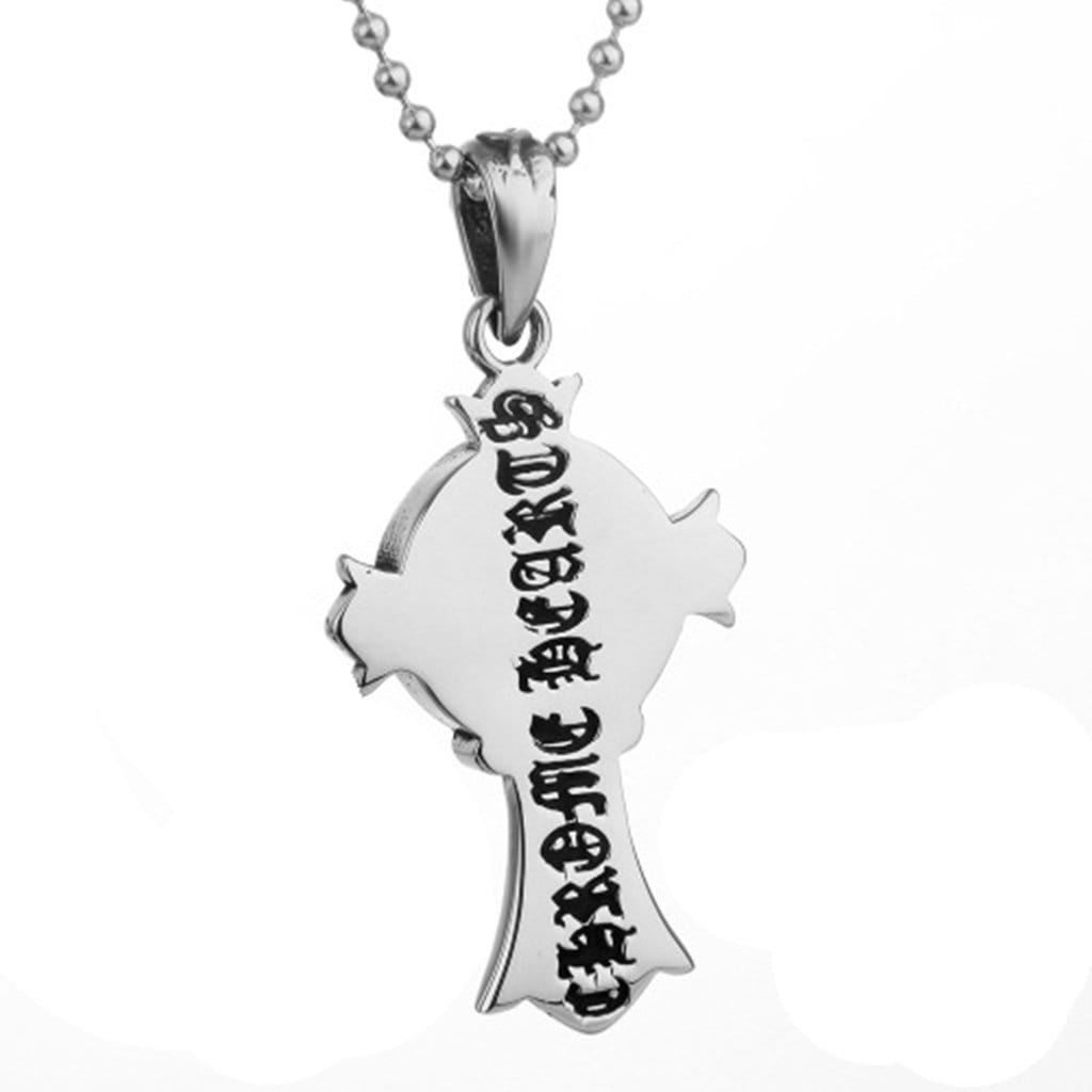 Men Necklace Stainless Steel Cross Pendant Necklace Gothic Vintage Chain Link